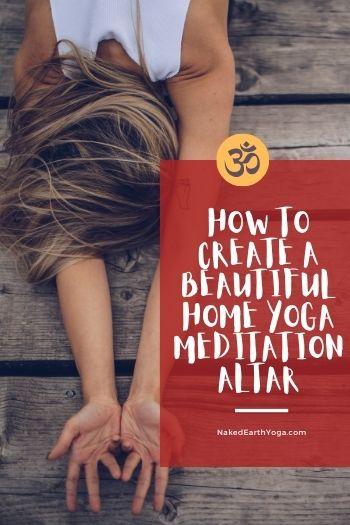 yoga meditation altar