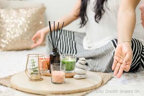 simple yoga meditation altar for your home yoga practice